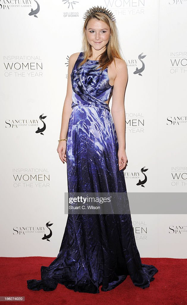 Amber Atherton attends The Daily Mail Inspirational Women of the Year Awards sponsored by Sanctuary Spa and in aid of Wellbeing of Women at Marriott Hotel Grosvenor Square on November 12, 2012 in London, England.