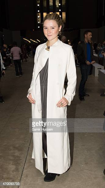 Amber Atherton attends the Fashion East show at Topshop Showspace Tate Modern during London Fashion Week AW14 on February 18 2014 in London England