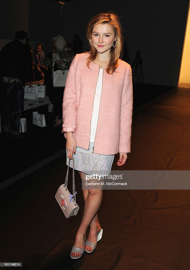 Amber Atherton attends the Felder Felder show during London Fashion Week Fall/Winter 2013/14 at Somerset House on February 15, 2013 in London, England.
