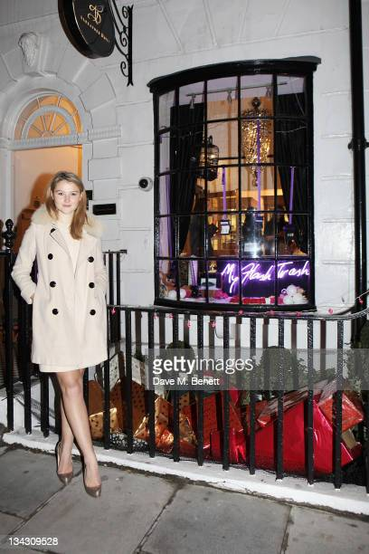 Amber Atherton attends the launch of the MyFlashTrash Duke Street PopUp Shop hosted by MyFlashTrashcom founder Amber Atherton at Alexander Davis...