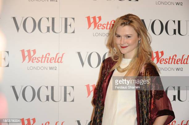 Amber Atherton attends the launch of the Vogue Pop Up Club as part of Westfield London's 5th birthday celebrations at Westfield on October 30 2013 in...