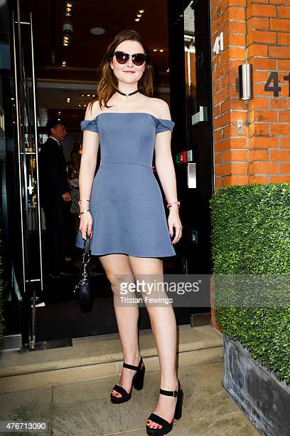 Amber Atherton attends the launch party of Annoushka Milestones an exhibition celebrating 25 years of designs on June 11 2015 at Annoushka in London...