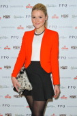 Amber Atherton attends the PPQ show at London Fashion Week AW14 at Sanderson Hotel on February 14 2014 in London England