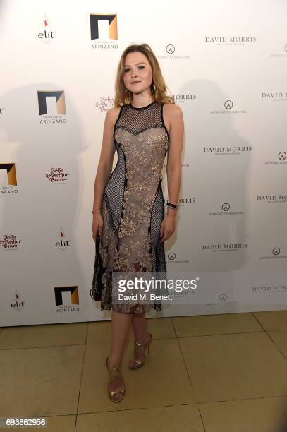 Amber Atherton attends the World of Stradivari gala hosted by David Morris at Spencer House in aid of ArtPoint Foundation on June 8 2017 in London...