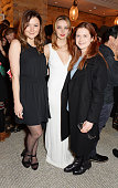 Amber Atherton Greta Bellamacina and Bonnie Wright attend the launch of 'A Collection Of Contemporary British Love Poetry' at Fortnum Mason on...