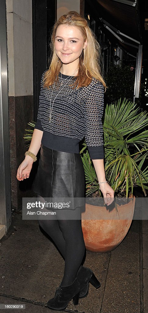 Amber Atherton sighting on January 27, 2013 in London, England.