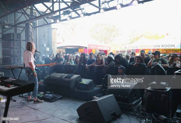 Amber Bain of The Japanese House performs at Fader Fort at SXSW on March 17 2017 in Austin Texas