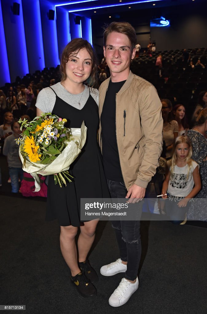 Amber Bongard and Marvin Linke during the 'Ostwind - Aufbruch nach Ora' premiere in Munich at Mathaeser Filmpalast on July 16, 2017 in Munich, Germany.