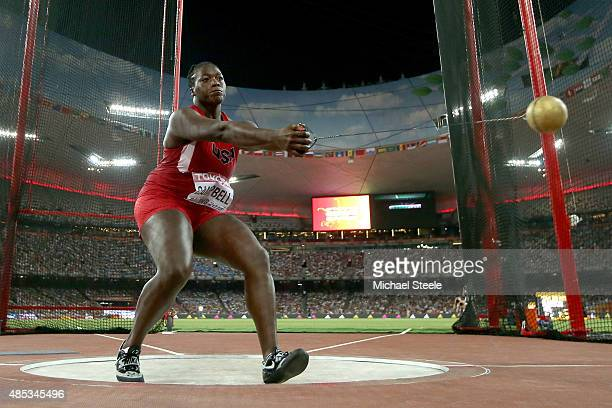 Amber Campbell of the United States competes in the Women's Hammer Final during day six of the 15th IAAF World Athletics Championships Beijing 2015...