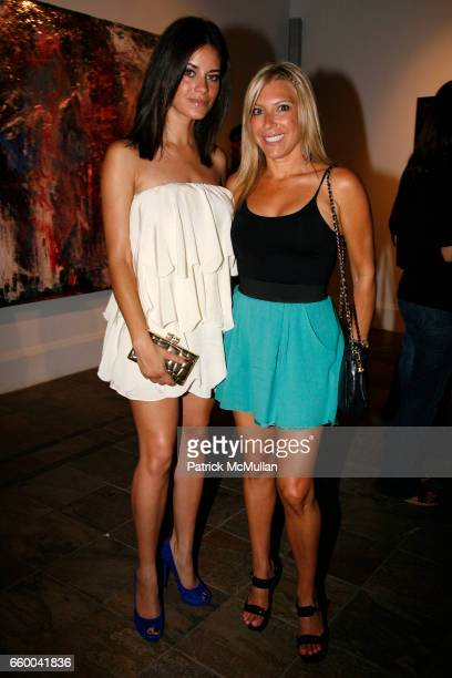 Amber Coffman and Rachel Zalis attend ANDREW LEVITAS works on canvas and steel curated by NEIL GRAYSON at Dactyl Gallery on May 9 2009 in New York...