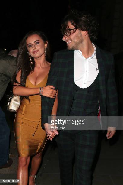 Amber Davies and Kem Cetinay seen attending Specsavers' Spectacle Wearer of the Year at 8 Northumberland Avenue on October 10 2017 in London England