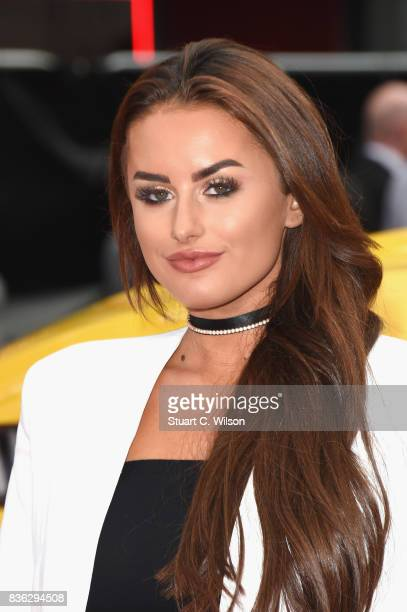 Amber Davies arriving at the 'Logan Lucky' UK premiere held at Vue West End on August 21 2017 in London England