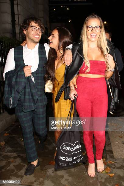 Amber Davies Georgia Kousoulou and Kem Cetinay attending the Specsavers 'Spectacle Wearer of the Year' awards on October 10 2017 in London England