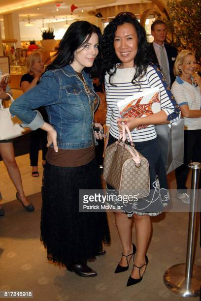 Amber Dawn Lee and Cheri Cidiamat attend Manolo Blahnik In Person at Neiman Marcus at Neiman Marcus on October 7 2010 in Beverly Hills California