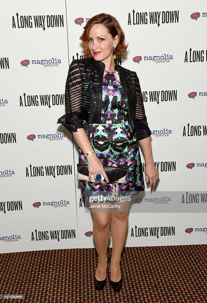 Amber De Vos attends 'A Long Way Down' New York premiere at City Cinemas 123 on June 30, 2014 in New York City.