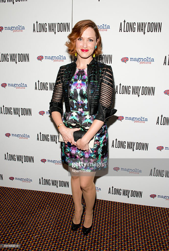 Amber De Vos attends the 'A Long Way Down' New York Premiere at City Cinemas 123 on June 30, 2014 in New York City.