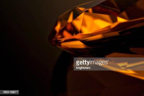 Amber diamond close up