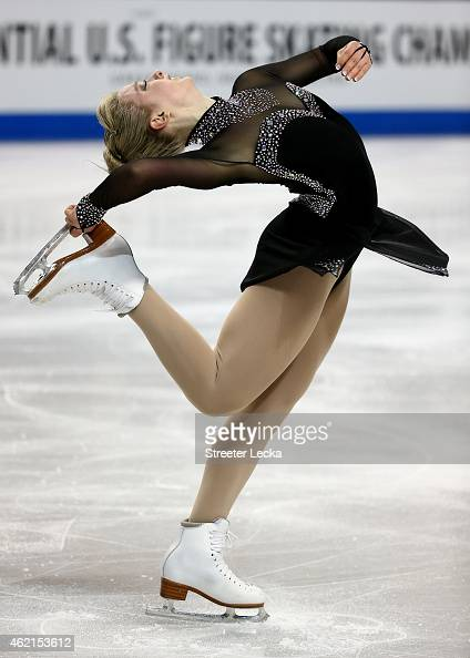Amber Glenn competes in the Championship Ladies Free Skate Program Competition during day 3 of the 2015 Prudential US Figure Skating Championships at...