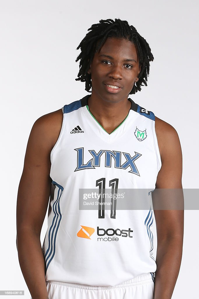 Amber Harris #11 of the Minnesota Lynx poses for portraits during 2013 Media Day on May 16, 2013 at the Minnesota Timberwolves and Lynx LifeTime Fitness Training Center at Target Center in Minneapolis, Minnesota.