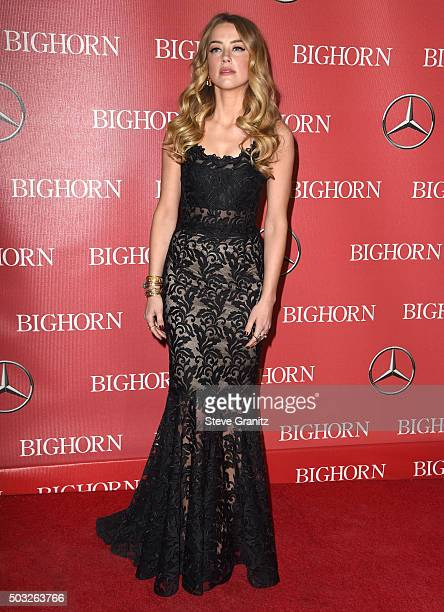 Amber Heard arrives at the 27th Annual Palm Springs International Film Festival Awards Gala at Palm Springs Convention Center on January 2 2016 in...