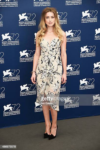 Amber Heard attends a photocall for 'The Danish Girl' during the 72nd Venice Film Festival at Palazzo del Casino on September 5 2015 in Venice Italy