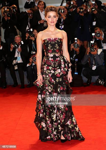 Amber Heard attends a premiere for 'A Danish Girl' during the 72nd Venice Film Festival at on September 5 2015 in Venice Italy