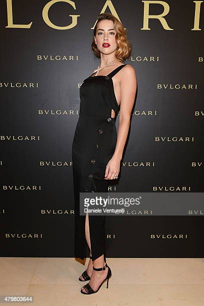 Amber Heard attends Bulgari Haute Couture Cocktail Party Model Show on July 7 2015 in Paris France