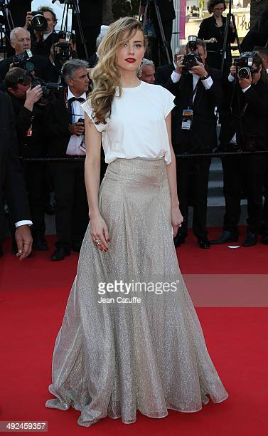 Amber Heard attends 'Deux Jours Une Nuit' premiere during the 67th Annual Cannes Film Festival on May 20 2014 in Cannes France