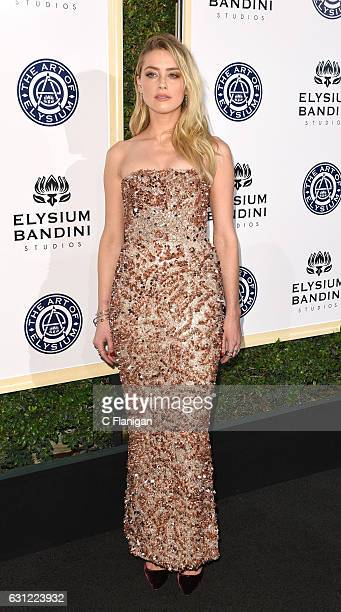Amber Heard attends The Art of Elysium presents Stevie Wonder's HEAVEN Celebrating the 10th Anniversary at Red Studios on January 7 2017 in Los...