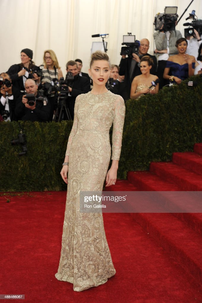 <a gi-track='captionPersonalityLinkClicked' href=/galleries/search?phrase=Amber+Heard&family=editorial&specificpeople=2210577 ng-click='$event.stopPropagation()'>Amber Heard</a> attends the 'Charles James: Beyond Fashion' Costume Institute Gala at the Metropolitan Museum of Art on May 5, 2014 in New York City.