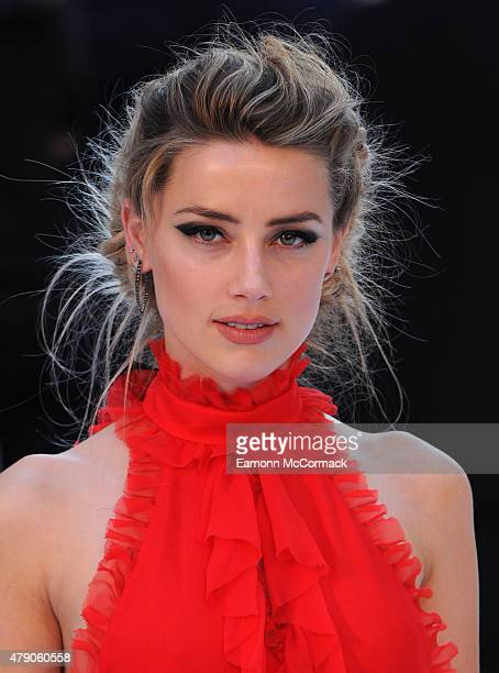 Amber Heard attends the European Premiere of 'Magic Mike XXL' at Vue West End on June 30 2015 in London England