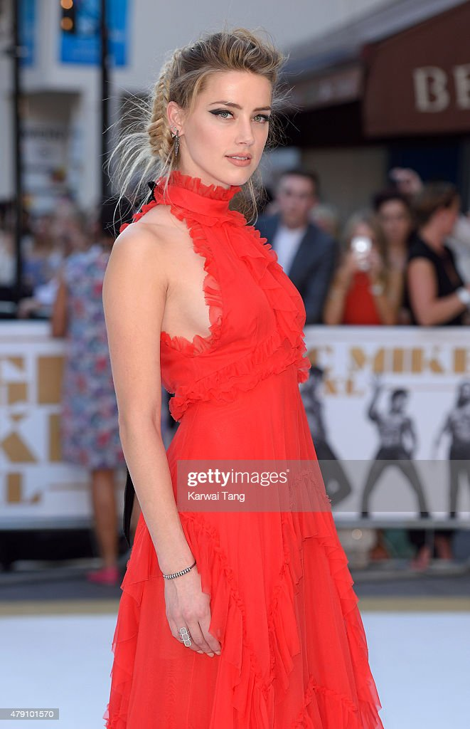 Amber Heard attends the European Premiere of 'Magic Mike XXL' at Vue West End on June 30, 2015 in London, England.