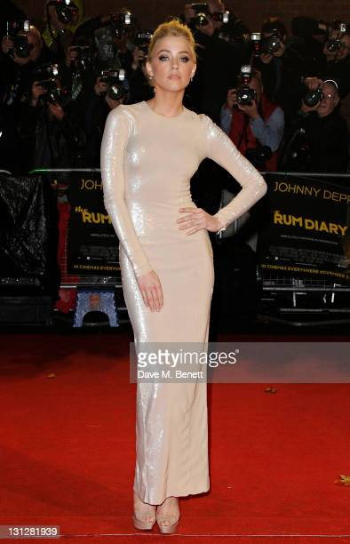 Amber Heard attends The European Premiere of 'The Rum Diary' at on November 3 2011 in London England