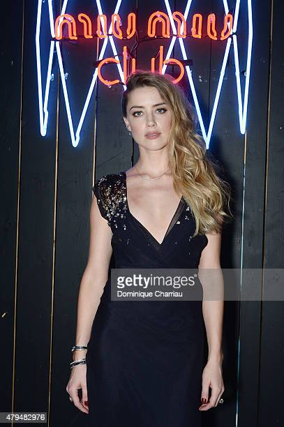 Amber Heard attends the Miu Miu Club Launch Of the First Miu Miu Fragrance And Croisiere 2016 Collection at Palais d'Iena on July 4 2015 in Paris...