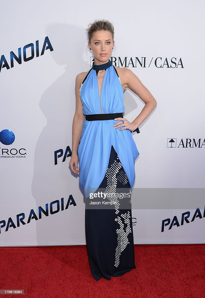 <a gi-track='captionPersonalityLinkClicked' href=/galleries/search?phrase=Amber+Heard&family=editorial&specificpeople=2210577 ng-click='$event.stopPropagation()'>Amber Heard</a> attends the premiere of Relativity Media's 'Paranoia' at DGA Theater on August 8, 2013 in Los Angeles, California.
