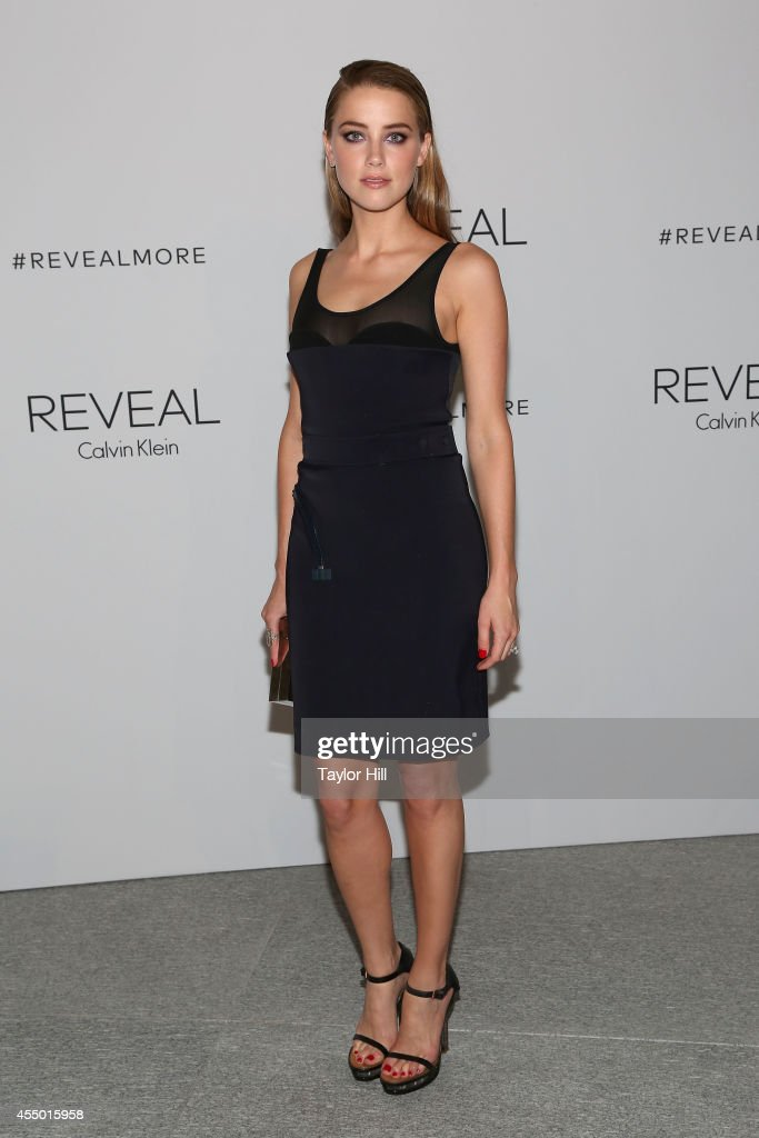 Amber Heard attends the REVEAL Calvin Klein Fragrance Launch Party at 4 World Trade Center on September 8 2014 in New York City