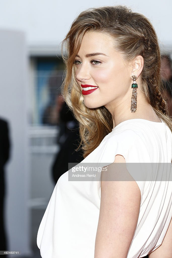 Amber Heard attends the 'Two Days One Night' premiere during the 67th Annual Cannes Film Festival on May 20 2014 in Cannes France