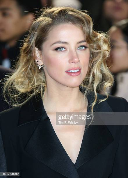 Amber Heard attends the UK Premiere of 'Mortdecai' at Empire Leicester Square on January 19 2015 in London England