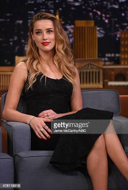 Amber Heard visits 'The Tonight Show Starring Jimmy Fallon' at Rockefeller Center on June 22 2015 in New York City