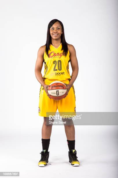 Amber Holt of the Tulsa Shock poses for a picture during the team media day photo shoot on May 15 2013 at the BOK Center in Tulsa Oklahoma NOTE TO...