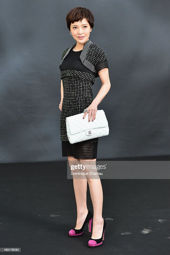 Amber Kuo attends the Chanel Fall/Winter 2013 Ready-to-Wear show as part of Paris Fashion Week at Grand Palais on March 5, 2013 in Paris, France.