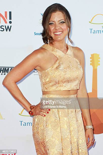Amber Lawrence arrives at the Golden Guitar Country Music Awards of Australia on January 24 2015 in Tamworth Australia