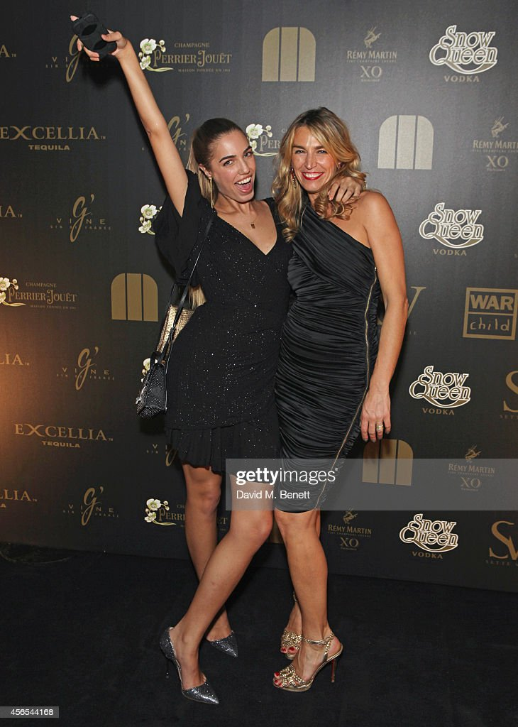 Amber Le Bon and Anastasia Webster attend the 10th anniversary of Mortons in Berkeley Square Gardens on October 2 2014 in London England