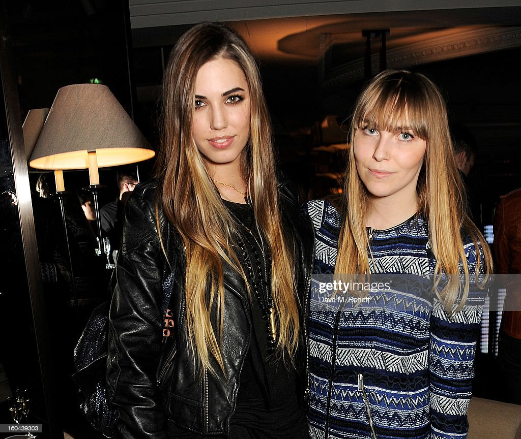 Amber Le Bon (L) and Becky Tong attend the Burberry Live at 121 Regent Street event on January 31, 2013 in London, England.
