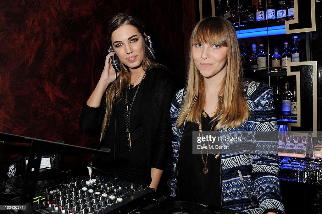 <a gi-track='captionPersonalityLinkClicked' href=/galleries/search?phrase=Amber+Le+Bon&family=editorial&specificpeople=1103030 ng-click='$event.stopPropagation()'>Amber Le Bon</a> (L) and Becky Tong attend the ZEO 'Just January' party at Buddha-Bar London on January 31, 2013 in London, England.