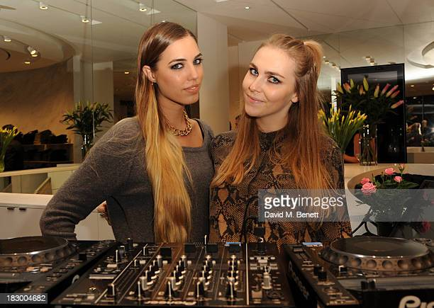 Amber Le Bon and Becky tong celebrate premium denim specialist Trilogy's 7th birthday at Trilogy Chelsea Store on October 3 2013 in London England