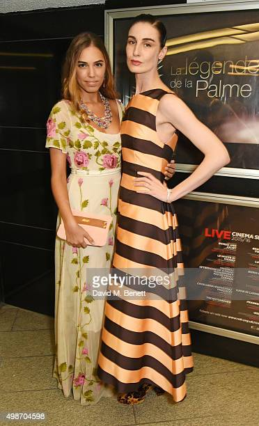 Amber Le Bon and Erin O'Connor attends the screening of La Legende de La Palme d'Or at The Curzon Mayfair on November 25 2015 in London England