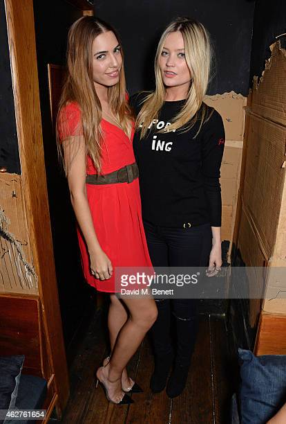 Amber Le Bon and Laura Whitmore attend an after party celebrating the launch of the Pretty Ballerinas SS15 collection hosted by Zara Martin at La...