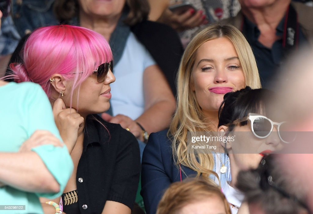 <a gi-track='captionPersonalityLinkClicked' href=/galleries/search?phrase=Amber+Le+Bon&family=editorial&specificpeople=1103030 ng-click='$event.stopPropagation()'>Amber Le Bon</a> and <a gi-track='captionPersonalityLinkClicked' href=/galleries/search?phrase=Laura+Whitmore&family=editorial&specificpeople=5599316 ng-click='$event.stopPropagation()'>Laura Whitmore</a> attend day one of the Wimbledon Tennis Championships at Wimbledon on June 27, 2016 in London, England.