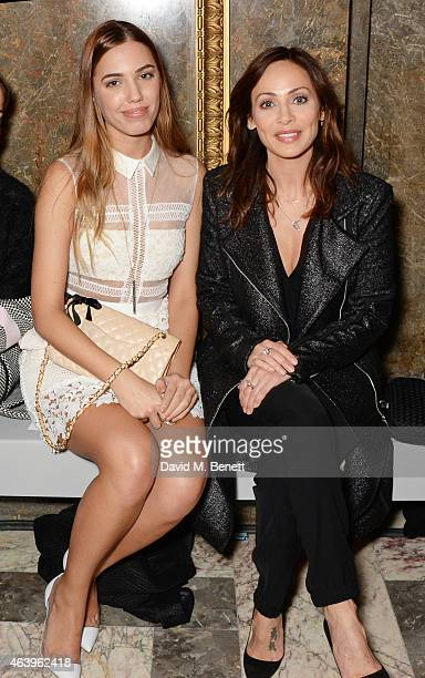 Amber Le Bon and Natalie Imbruglia attend the Sass Bide A/W Show during London Fashion Week Fall/Winter 2015/16 at Australia House on February 20...